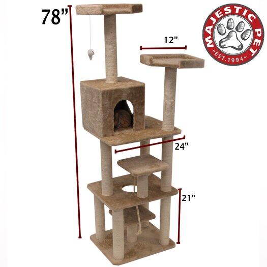"Majestic Pet Products 78"" Casita Fur Cat Tree"