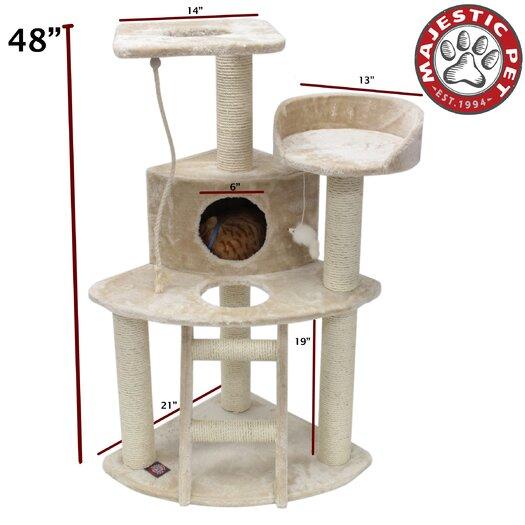 "Majestic Pet Products 48"" Casita Fur Cat Tree"