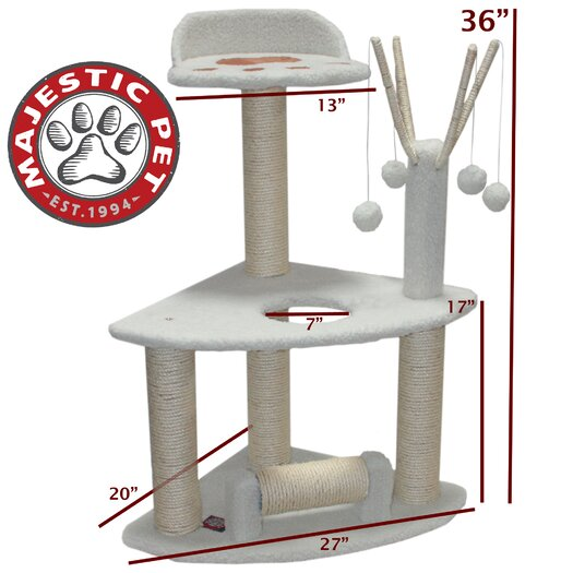 "Majestic Pet Products 36"" Bungalow Cat Condo"
