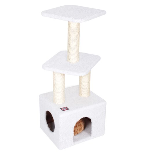"Majestic Pet Products 40"" Bungalow Sherpa Cat Tree"