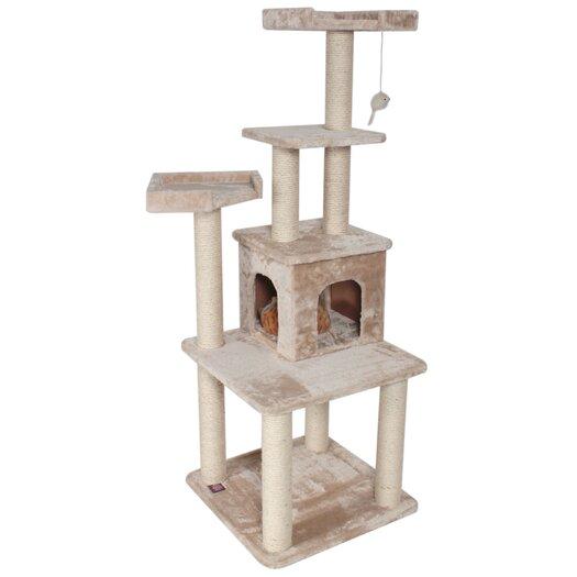"Majestic Pet Products 64"" Casita Fur Cat Tree"