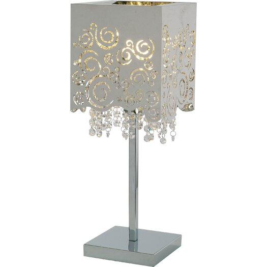 """ET2 Fiori 20.75"""" H Table Lamp with Square Shade"""