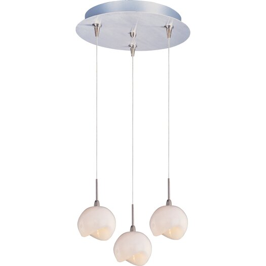 ET2 Opal White 3-Light RapidJack Pendant and Canopy
