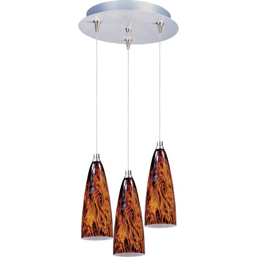 ET2 Amber Lava 3-Light RapidJack Pendant and Canopy