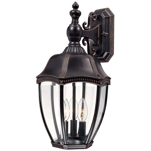 Dolan Designs Roseville 3 Light Outdoor Wall Lantern
