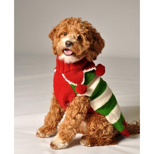 Chilly Dog Christmas Elf Dog Sweater