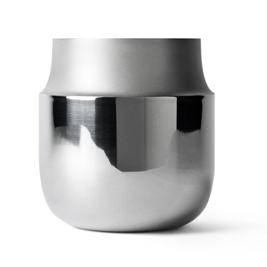 Wide Stainless Steel Tactile Vase