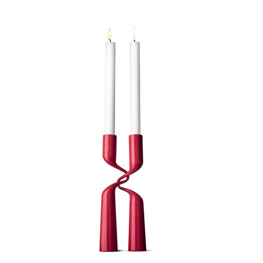 Menu Powder-Lacquered Steel Double Candlestick