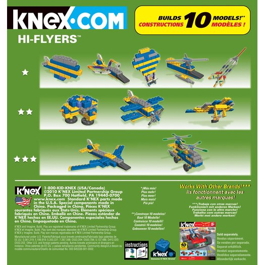 K'NEX Hi-Flyers 10 Model Building Set
