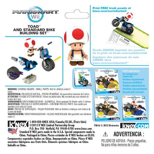 K'NEX Nintendo Toad and Standard Bike Building Set
