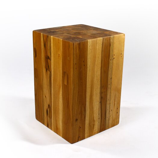 Strata Furniture Block Hollow End Table