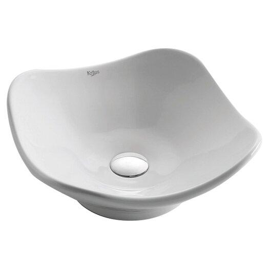 Kraus Ceramic Tulip Bathroom Sink