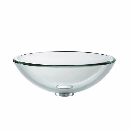 Kraus Glass Sink Combinations Clear Glass Vessel and Faucet
