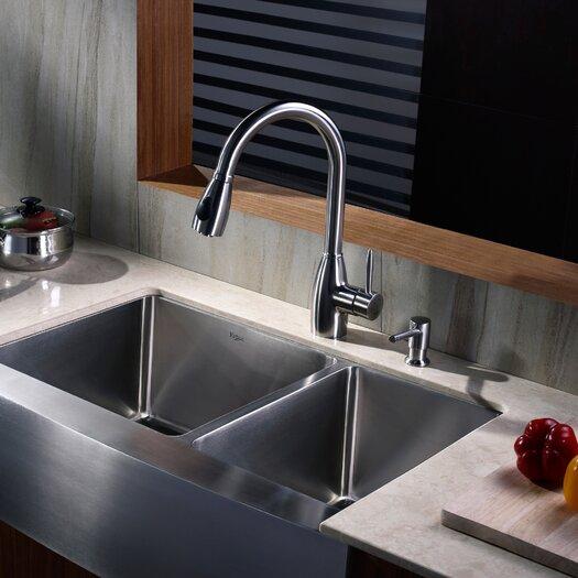 Kraus Single Handle Single Hole Kitchen Faucet