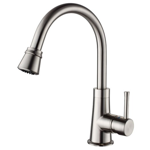 Kraus One Handle Single Hole High Neck Kitchen Faucet
