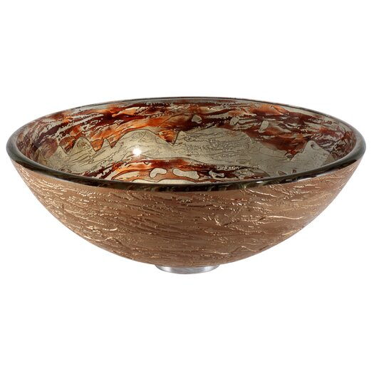 Kraus Copper Ares Glass Vessel Sink