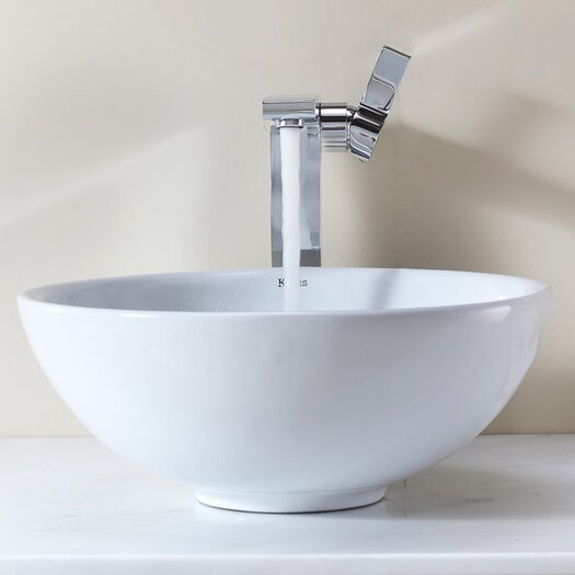 Kraus Bathroom Combos Bathroom Sink  with Single Handle Single Hole Waterfall Faucet