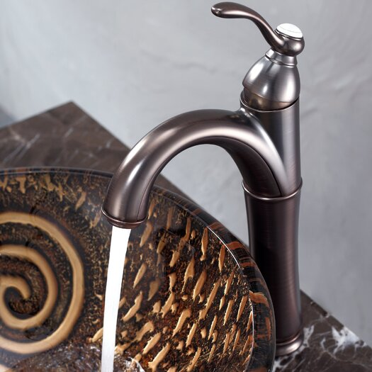 Kraus Luna Glass Vessel Sink and Riviera Faucet