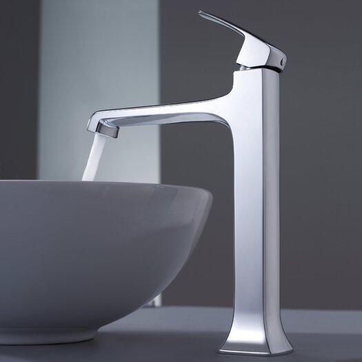 Kraus Decorum Round Ceramic Bathroom Sink and Faucet