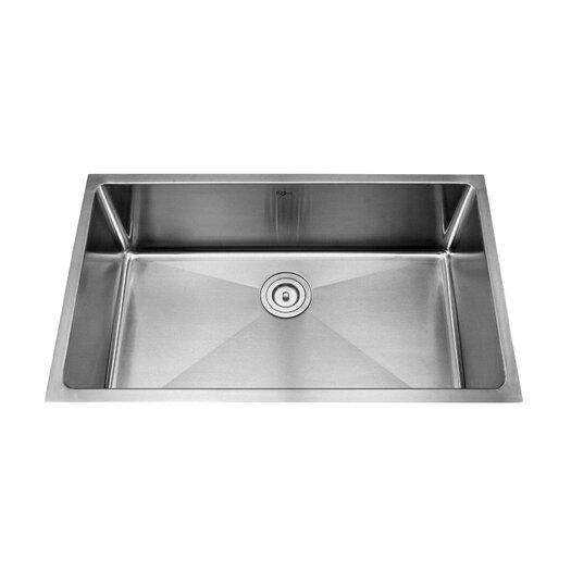 """Kraus 32"""" x 19"""" 6 Piece Undermount Single Bowl Kitchen Sink Set"""