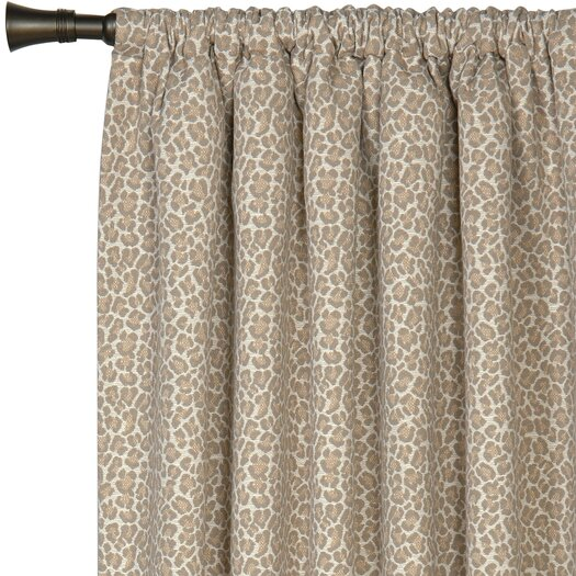 Eastern Accents Rayland Parrish Fawn Cotton Rod Pocket Curtain Panel