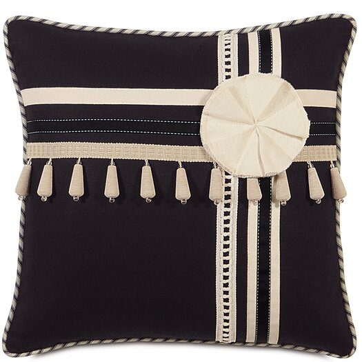 Eastern Accents Evelyn Polyester Fullerton Ink Decorative Pillow with Trims