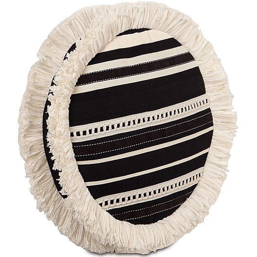 Eastern Accents Evelyn Polyester Fullerton Ink Tambourine Decorative Pillow
