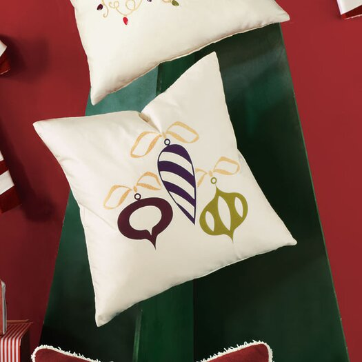 Eastern Accents Candy Cane Retro Ornaments Decorative Pillow