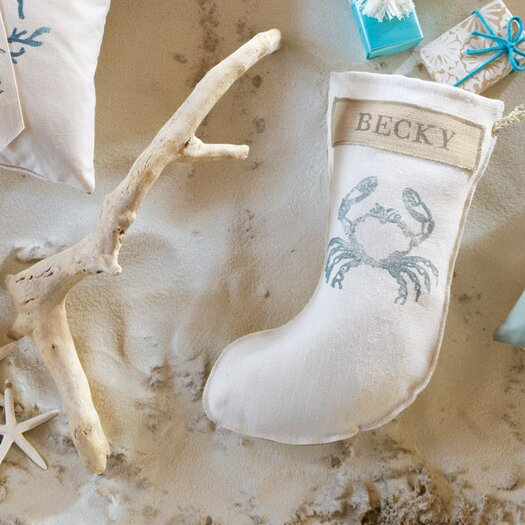 Eastern Accents Coastal Tidings Crabby Spa Stocking