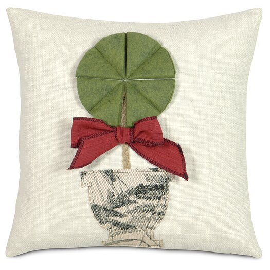Eastern Accents Fa La La Holiday Topiary Pillow