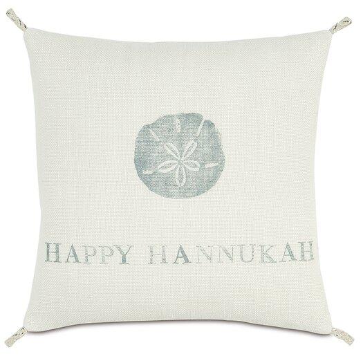 Eastern Accents Coastal Tidings Happy Hannukah Pillow