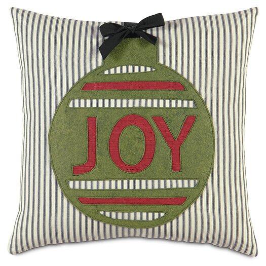 Eastern Accents Fa La La Ornament Joy Pillow
