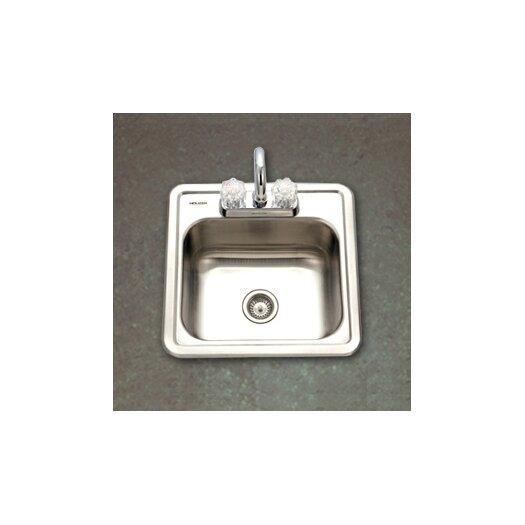 """Houzer Hospitality 15"""" x 15"""" Topmount 24 Gauge Bar Sink"""