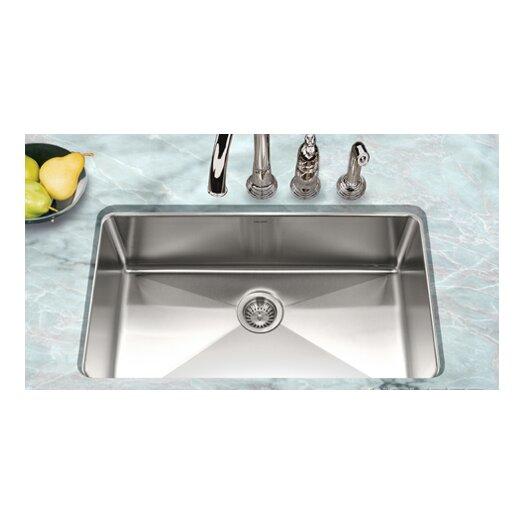 "Houzer Nouvelle 31.13"" x 18"" Undermount Gourmet Large Single Bowl Kitchen Sink"