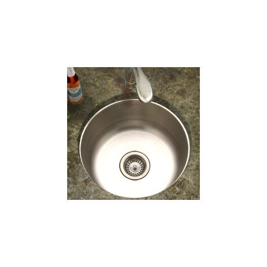 """Houzer Hospitality 17.5"""" x 17.5"""" Topmount Round Bar Sink"""