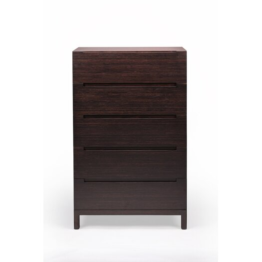 Greenington Orchid 5 Drawer Bamboo Chest