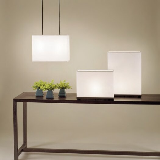 """Lights Up! Rex Tall 20"""" H Table Lamp with Rectangle Shade"""