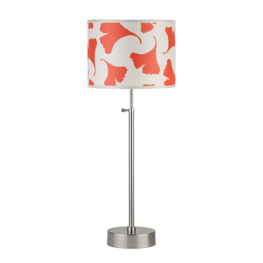 """Lights Up! Cancan 34"""" H Table Lamp with Drum Shade"""