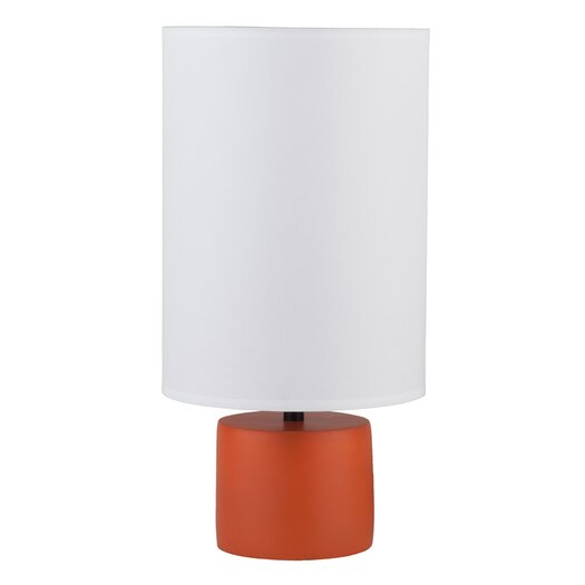 """Lights Up! Devo 18"""" H Table Lamp with Drum Shade"""