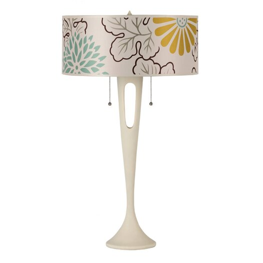"Lights Up! Soiree 31"" H Table Lamp with Drum Shade"
