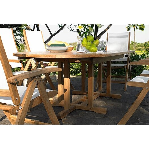 Three Birds Casual Camden Oval Extension Dining Table