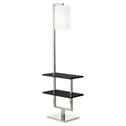 Pacific Coast Lighting PCL Avenue Double Shelf Downbridge Floor Lamp