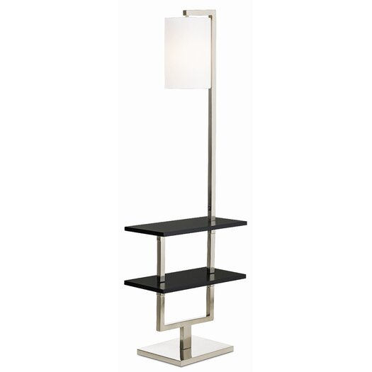 Pacific Coast Lighting PCL Avenue Double Shelf Downbridge 1 Light Floor Lamp
