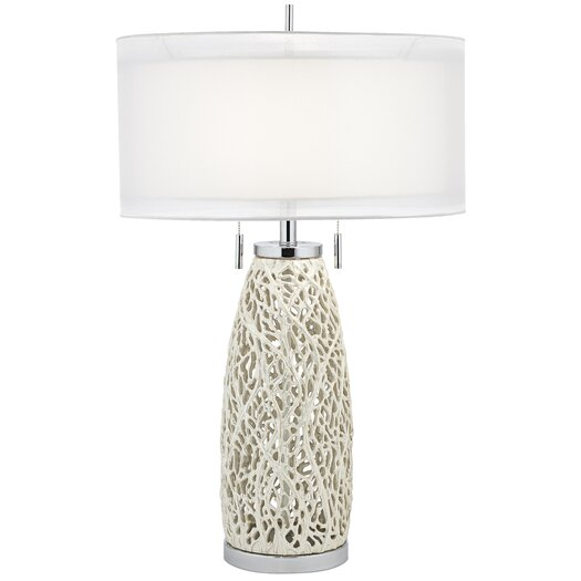 "Pacific Coast Lighting PCL Glen 32"" H Table Lamp with Drum Shade"