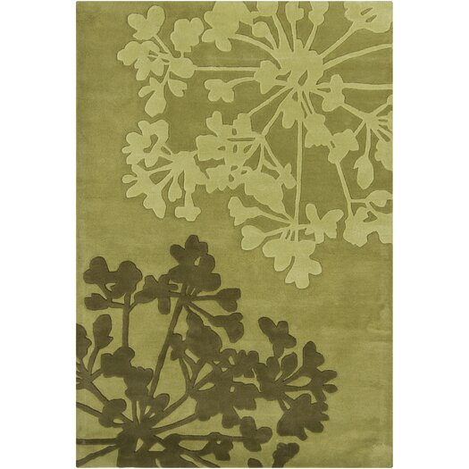 Chandra Rugs INT Mocha Floral Area Rug