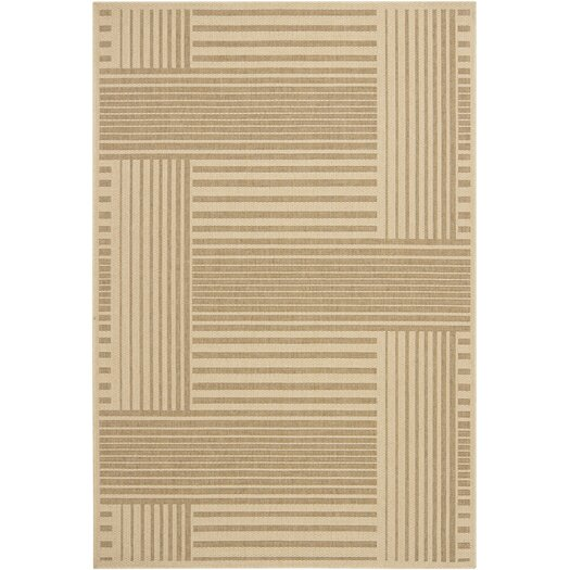 Chandra Rugs Ryan Brown Geometric Indoor/Outdoor Area Rug