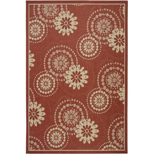 Chandra Rugs Ryan Red Indoor/Outdoor Area Rug
