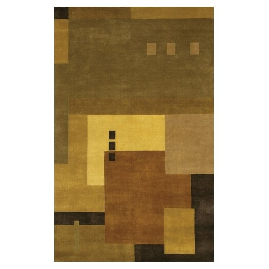 Chandra Rugs Aadi Tan/Green Area Rug