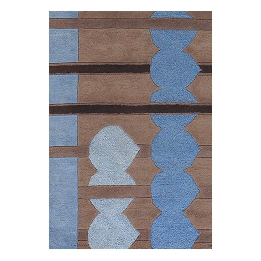 Chandra Rugs Avalisa Blue/Brown Area Rug