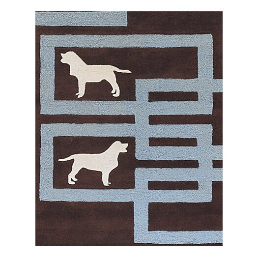 Chandra Rugs Avalisa Brown/Blue Area Rug
